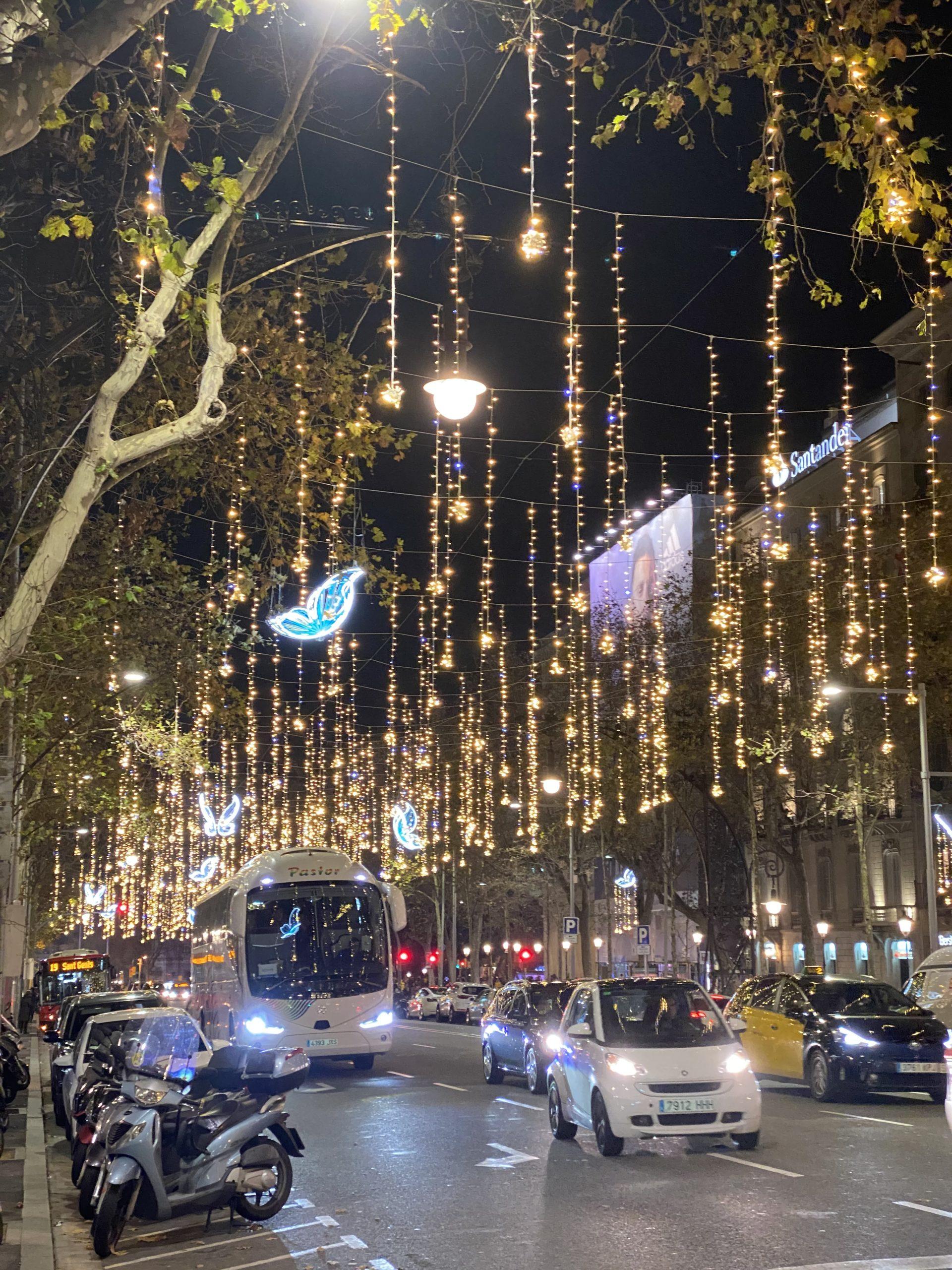 バルセロナのイルミネーション