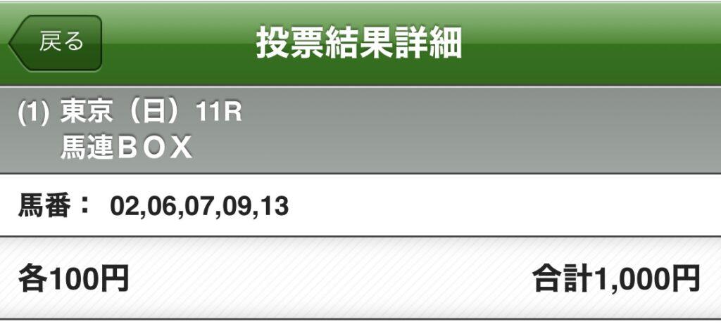 フェブラリーステークス5頭BOX