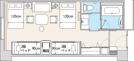 オリエンタルホテル東京ベイHPよりレイアウト