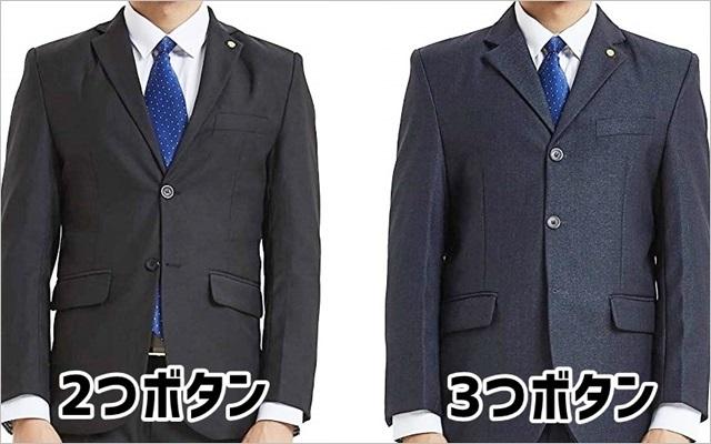 スーツの前ボタン