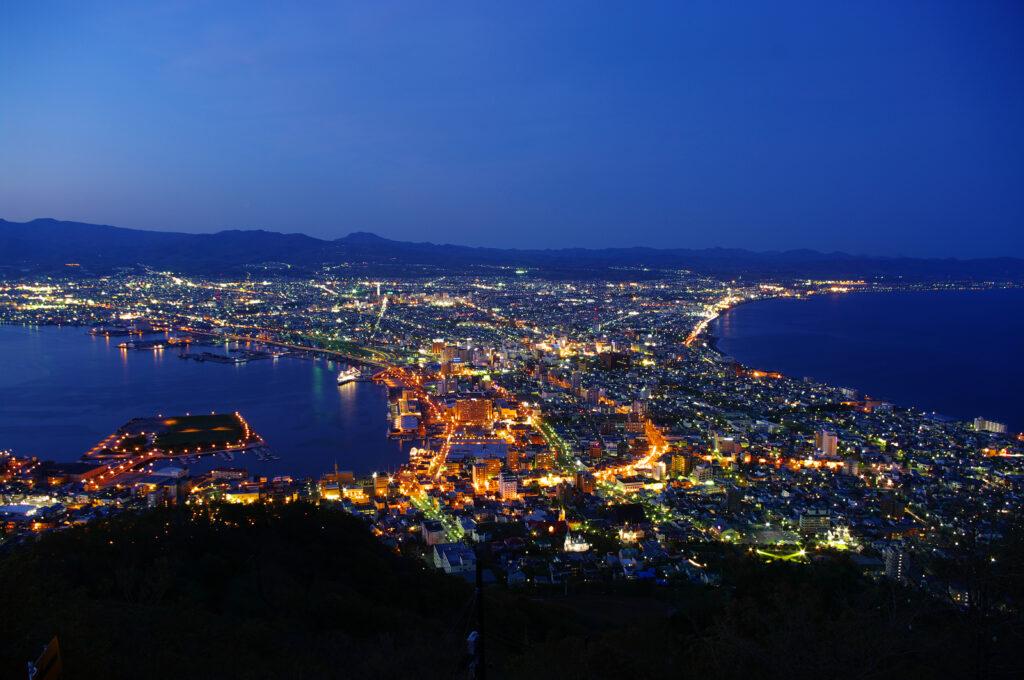 北海道 函館 夜景 ロープウェイ 日本三大夜景