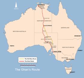 ザ・ガン オーストラリア アデレート ダーウィン 寝台列車