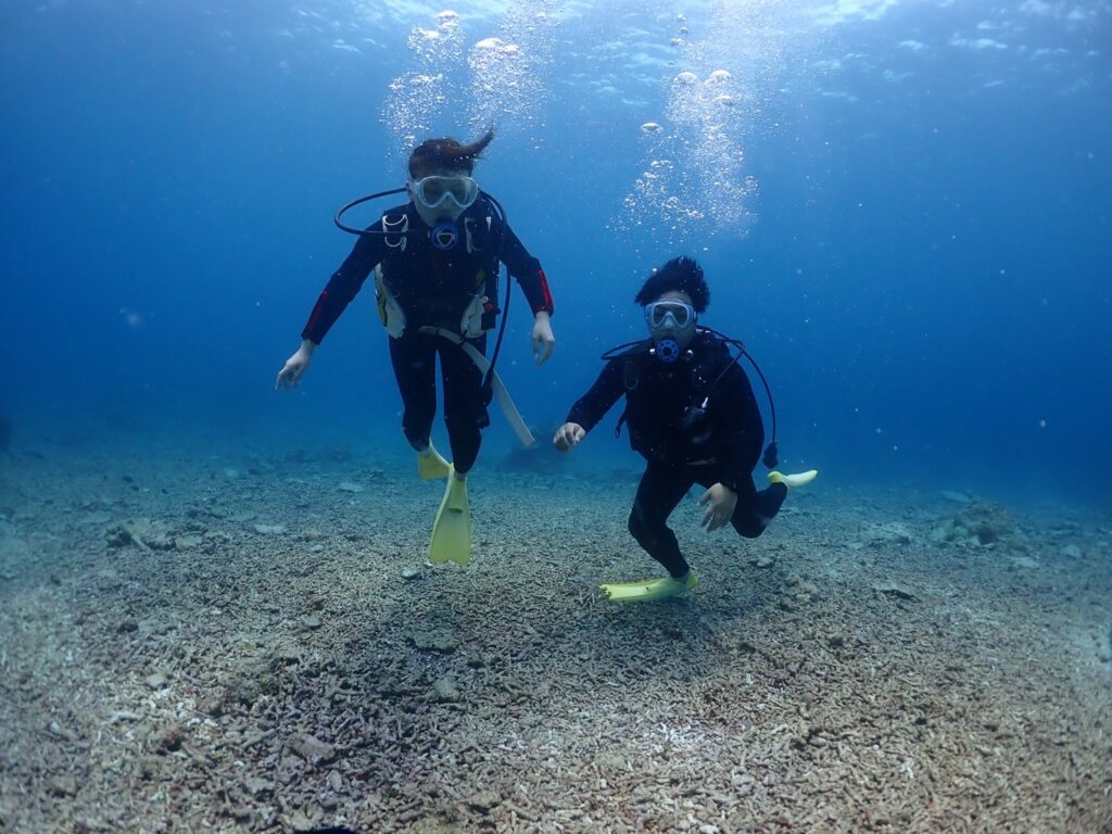 体験ダイビング 水中カメラ 浅瀬 ダイビング