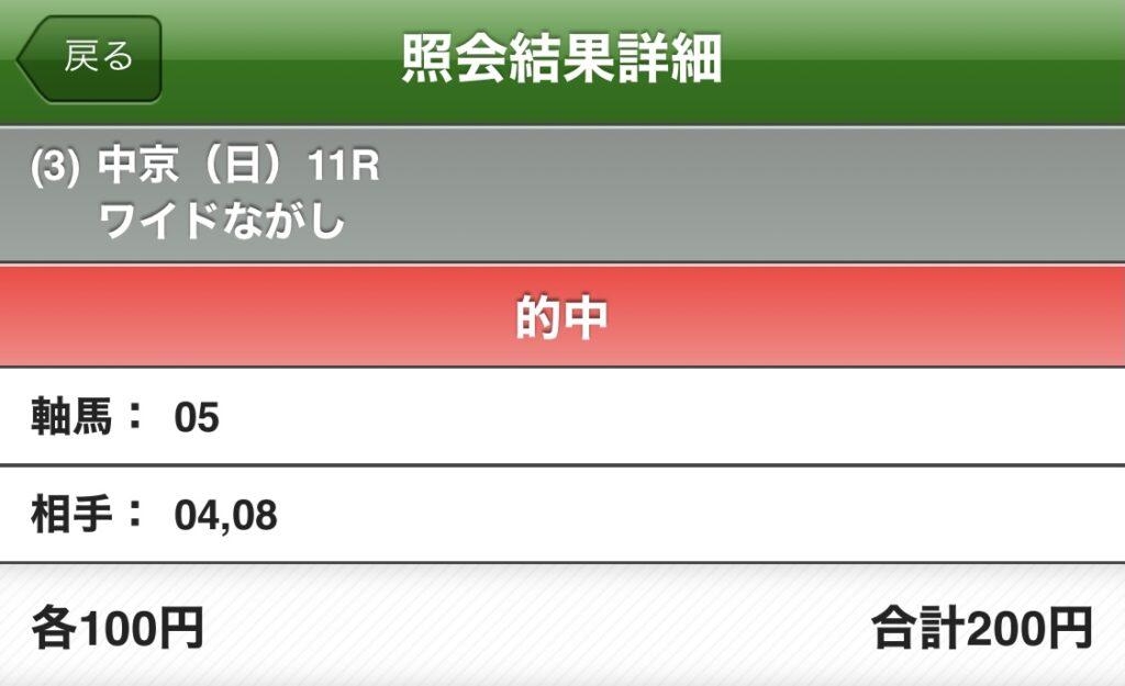 JRA 神戸新聞杯 的中馬券 馬券 競馬